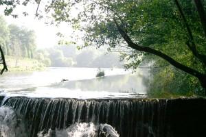O río Ulla ao seu paso por Berres, parroquia natal de García Barros