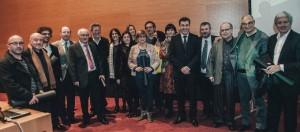 Imaxe de grupo dos premiados/Foto:pontevedraviva.com