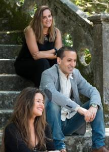 De arriba a abaixo: Érica Esmorís, Héctor Cajaraville e Andrea Maceiras