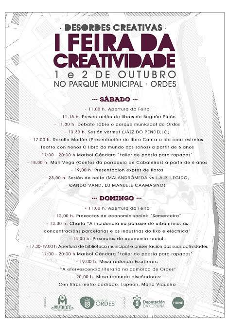 Cartel da Feira da Creatividade